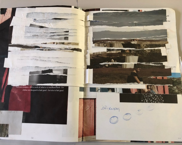 Strata I. Documenting my approach to research and sketchbooks (credit: Anna Kime)