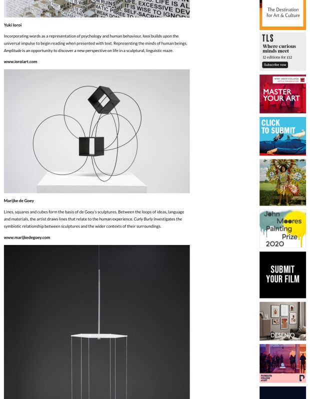 Screenshot of Aesthetica website